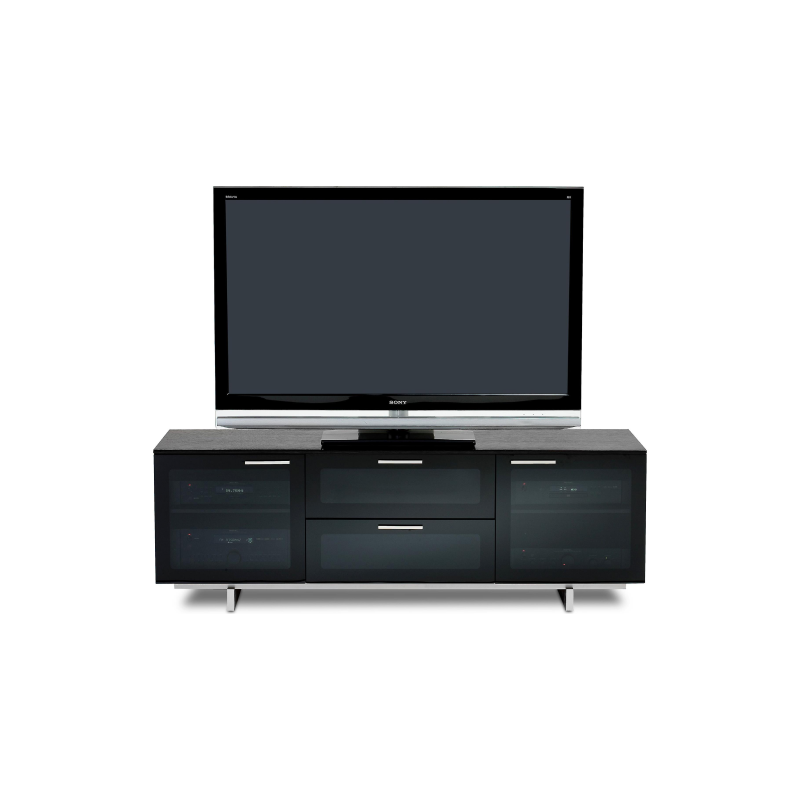 BDI Avion 8937, 3 Component Wide TV-Cabinet, Black Stained Oak