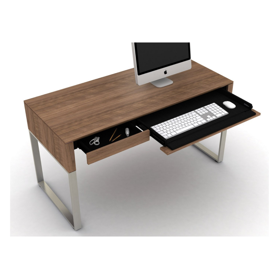 BDI Cascadia 6201, Desk with reversible keyboard and storage drawers