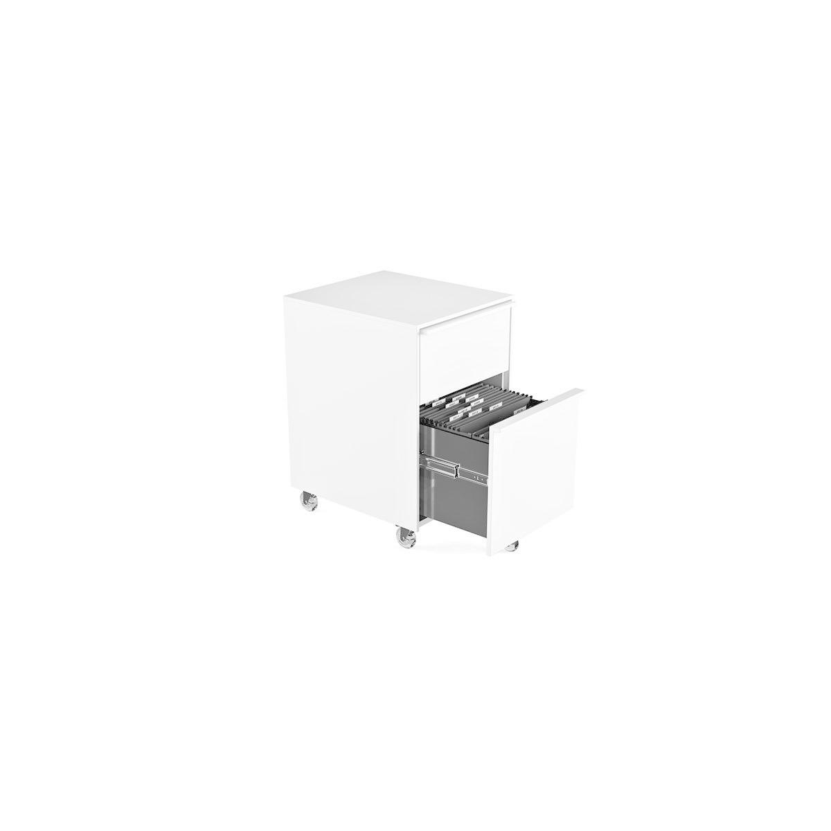 BDI Cascadia 6207, Two-drawer mobile file pedestal