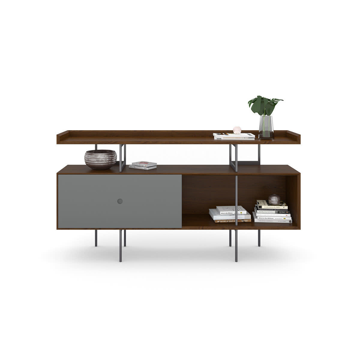 "BDI Margo 5211 Three component-wide Console with Soundbar Speaker Shelf ( up to 70"" TV )"