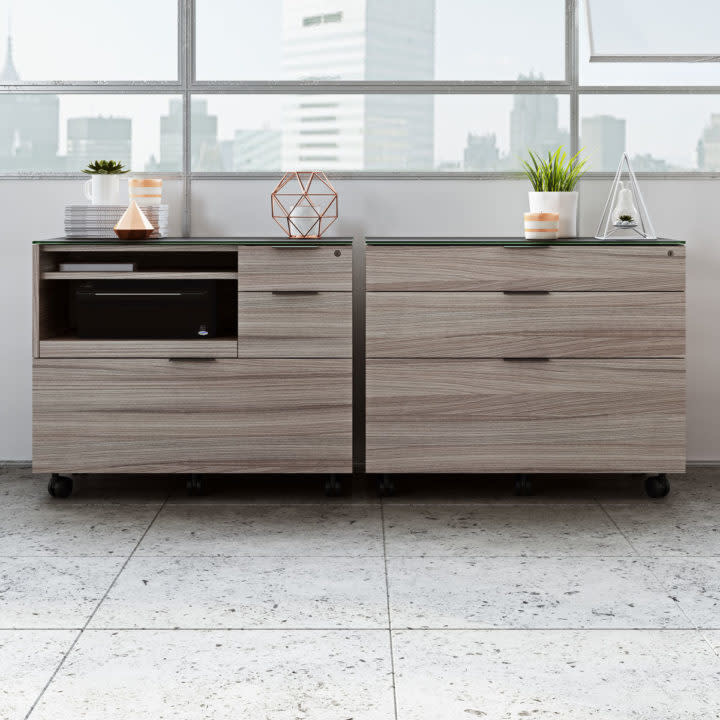 BDI Sigma 6916 Two-drawer Locking Lateral File Cabinet
