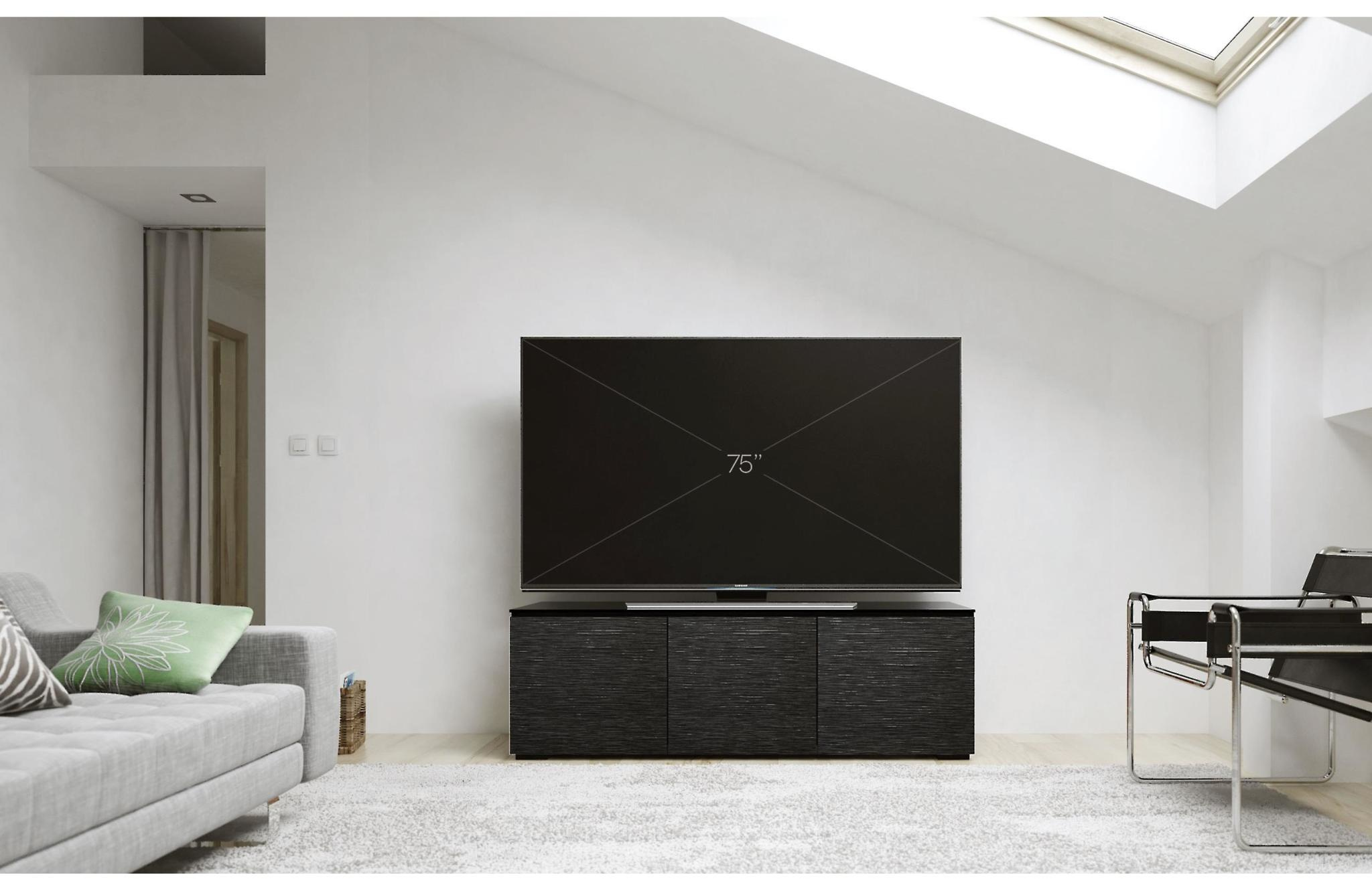 Salamander Designs Chicago 237, AV Cabinet, Black Oak