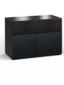 Salamander Designs Chicago 329, AV Cabinet, Black Oak