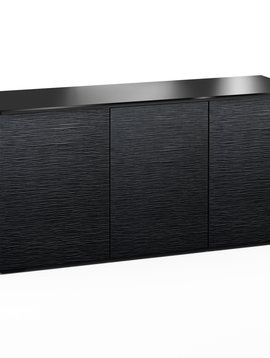 Salamander Designs Chicago 337, AV Cabinet, Black Oak