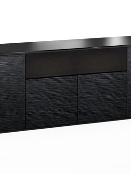 Salamander Designs Chicago 345, AV Cabinet, Black Oak