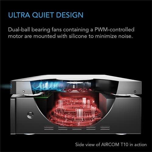 """AC Infinity Aircom T10 17"""" AV Equipment Closet & Room Fan System, Intake"""