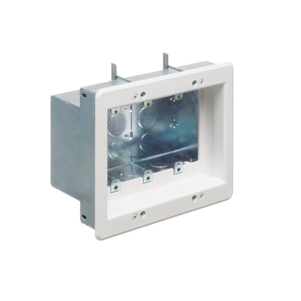 Arlington Triple Gang Recessed Steel TV Box, TVBS507