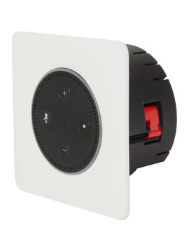 Vanguard Dynamics Vail 3 In-Wall Flush Mount Stereo Amplifier for Amazon Echo Dot 3rd Generation