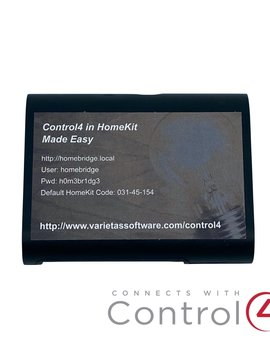 Varietas Software Control4 in HomeKit Made Easy with Varietas Driver Bundle for Apple Integration