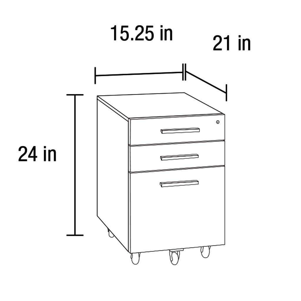 BDI Sequel 6007-2 Locking Low Mobile File Pedestal