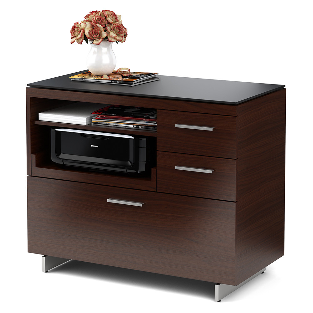 BDI Sequel 6017 Multifunction Cabinet with Two Storage Drawers & Pull-out Printer Tray