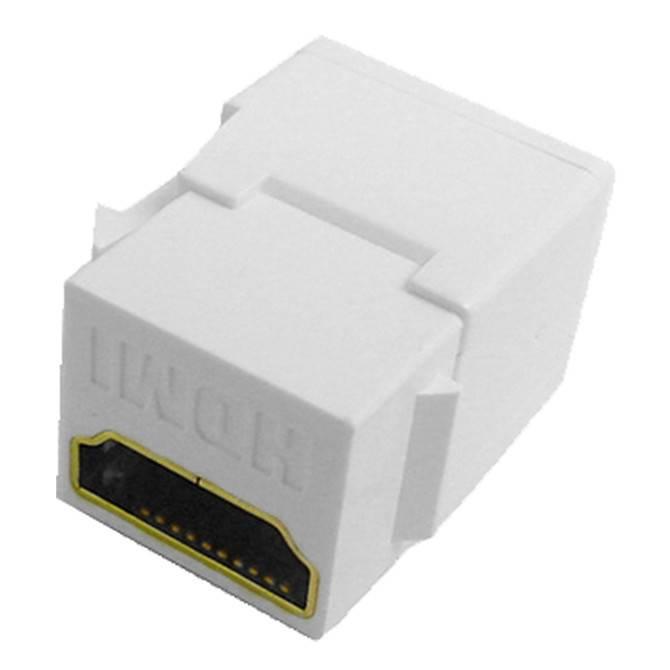 Calrad HDMI Keystone Insert Feed-thru, 1080P, White