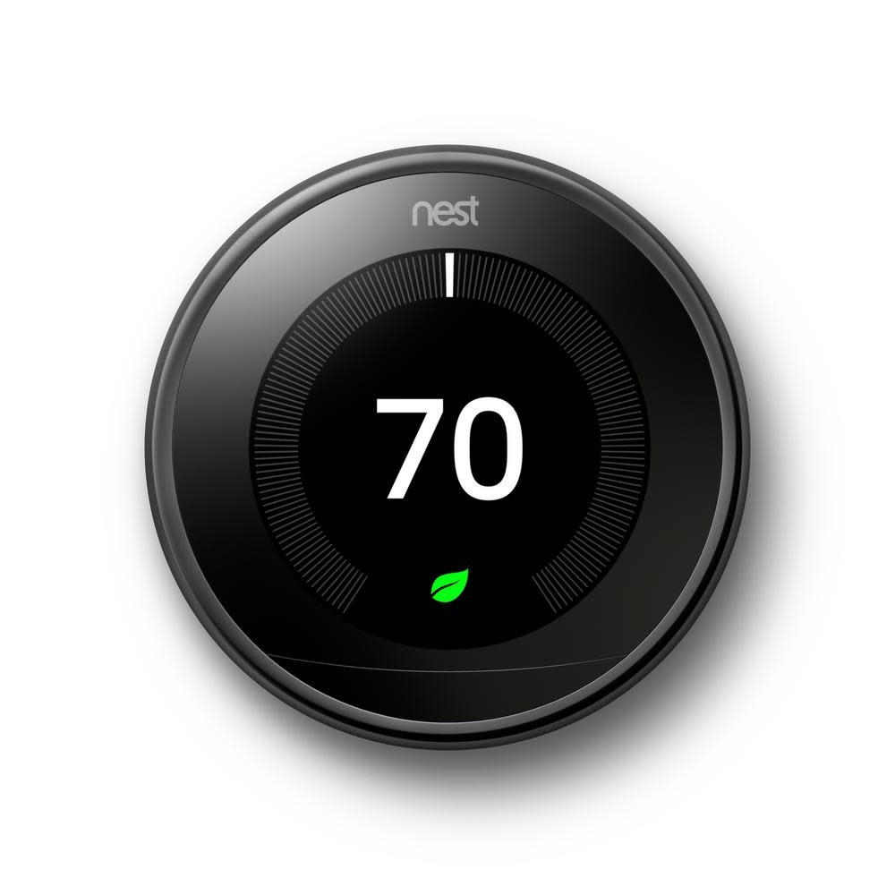 Nest Learning Thermostat 3rd Gen., Mirror Black,  T3018US