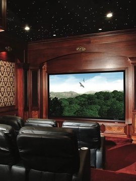 "Stewart Filmscreen 123"" Luxus Deluxe Screen Wall Quick-snap, Snomatte 100 LS"