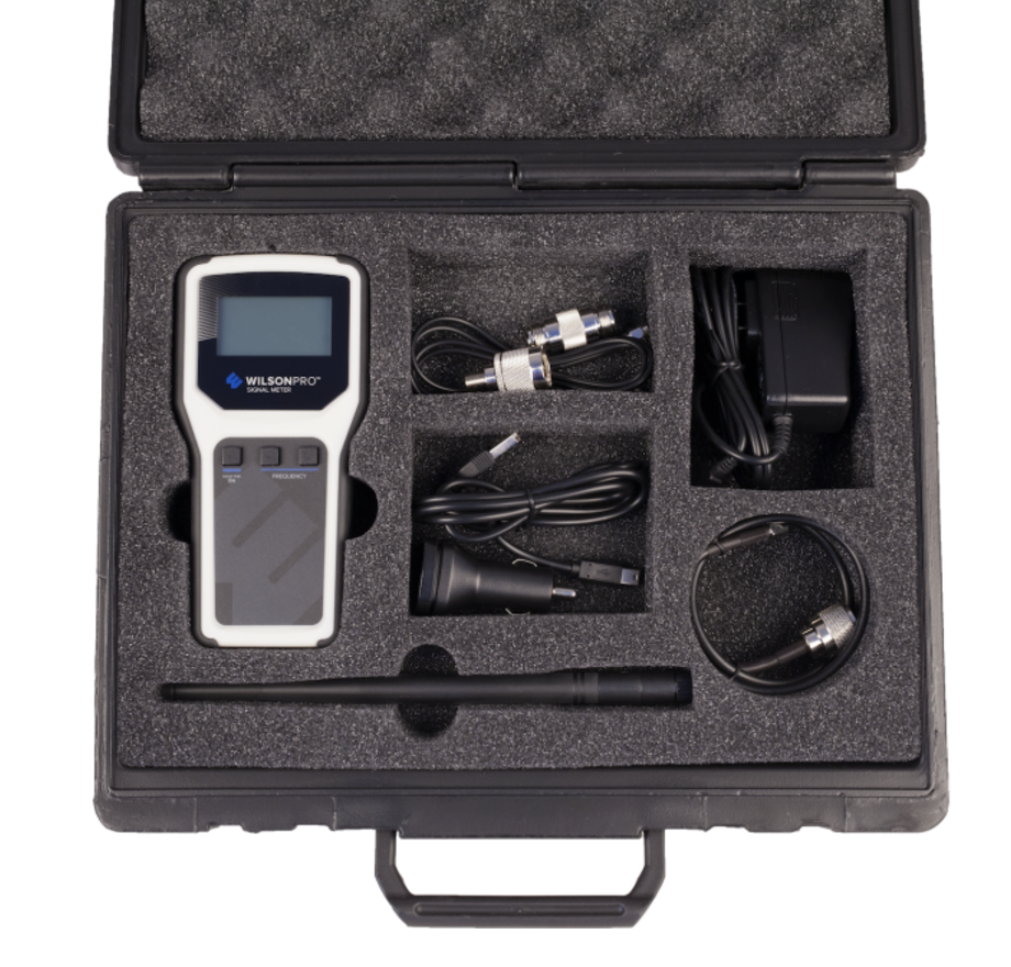 WilsonPro 460218 RF Signal Meter with Carrying Case Kit