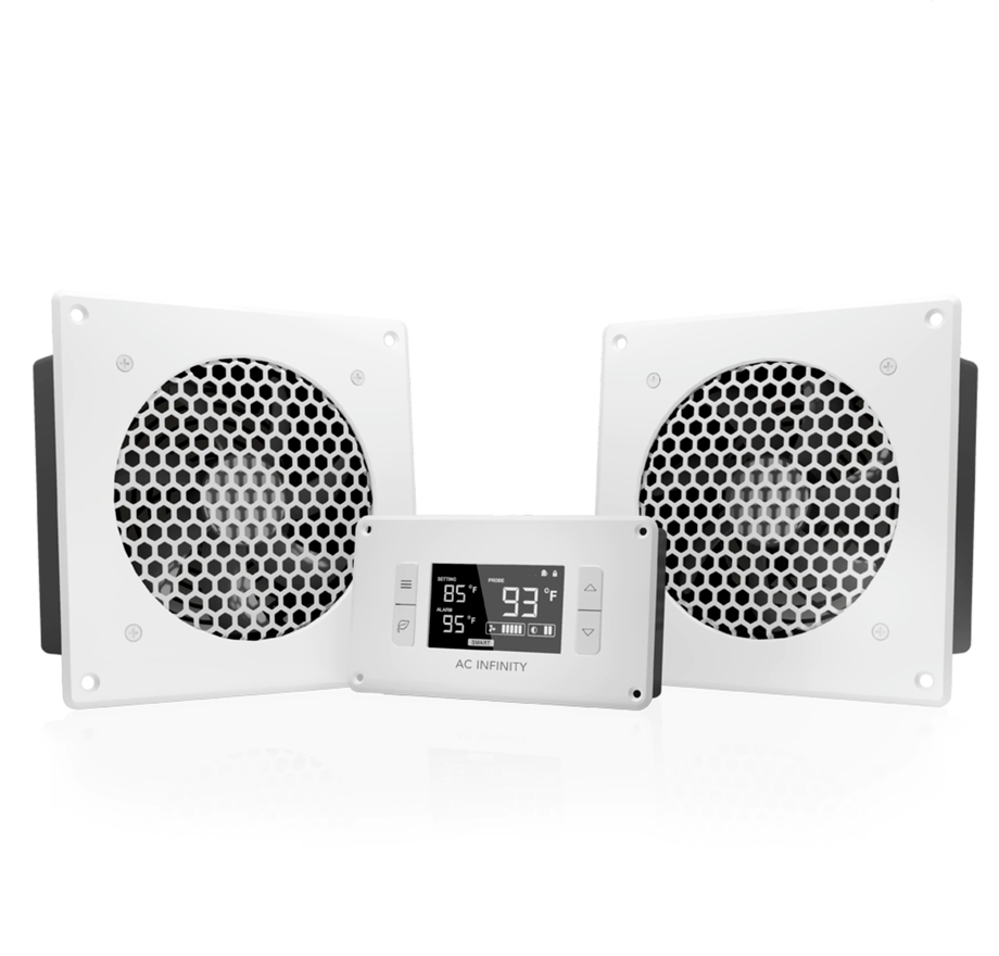 AC Infinity Airplate T8 Cabinet Fan System, White
