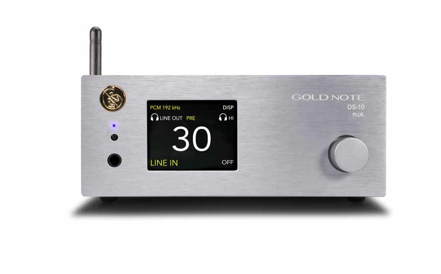Gold Note DS-10 PLUS, New generation streaming DAC with Headphone Output & Line Preamplifier