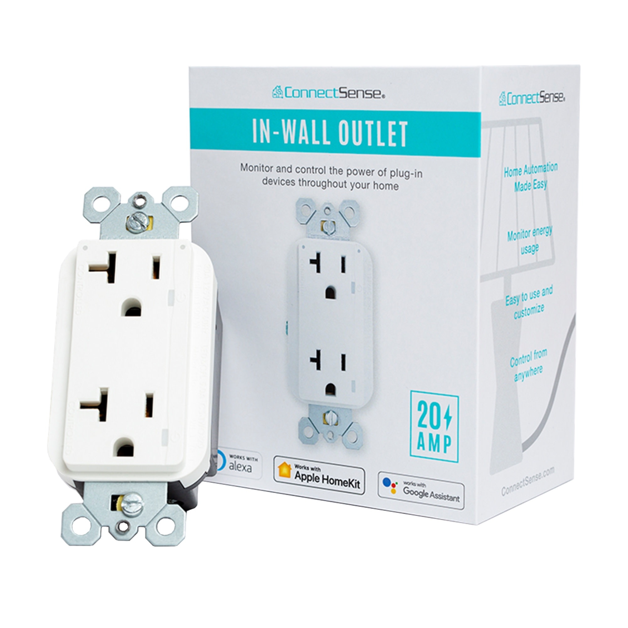 Connect Sense Smart In-Wall Outlet Pro