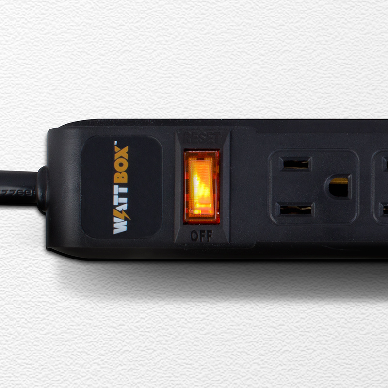Wattbox Power Strip - 6 Outlets, WB-100-PS-6