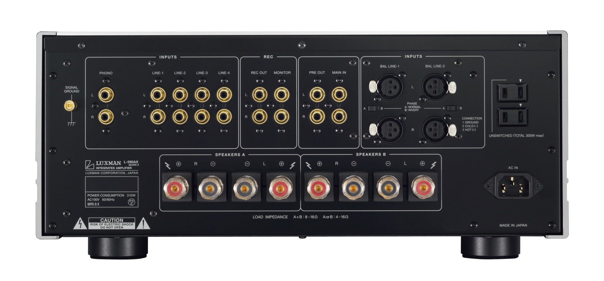 Luxman Class A Integrated Amplifier L-550 AXII