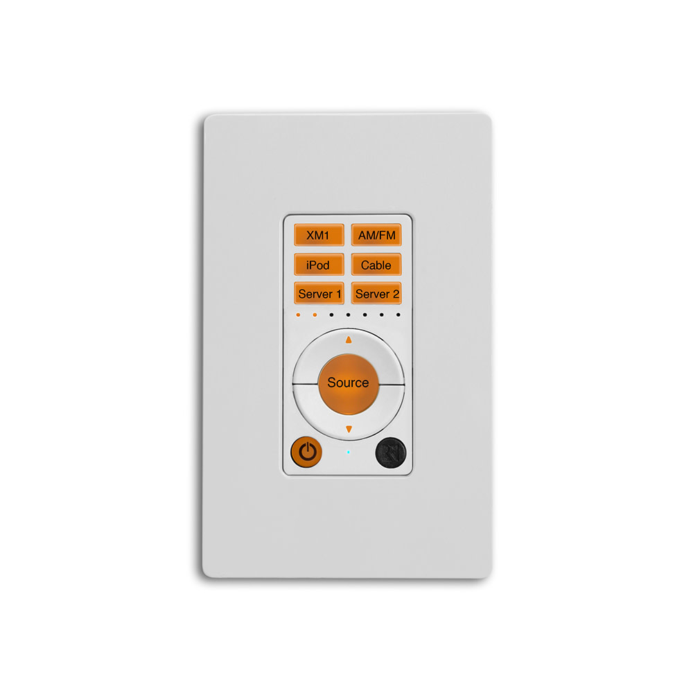 Russound CAA66L 6 - Zone/ 6 - Source Controller Kit, White & Almond Wall Plates, includes IR Emitters, Audio Jumpers & Handheld Remote