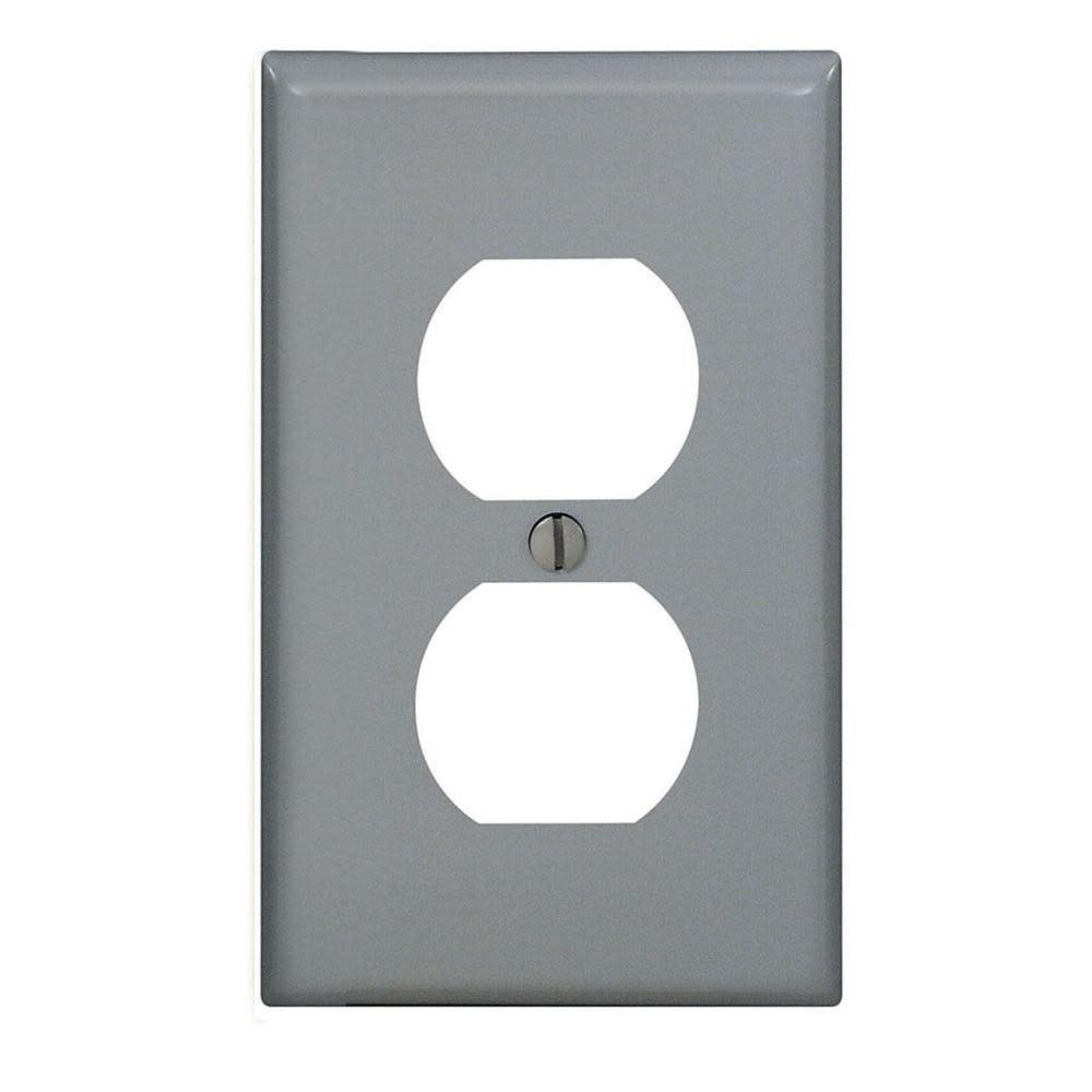Leviton Unbreakable Nylon Wall-Plate, Preferred, Single-gang, Medium, Gray