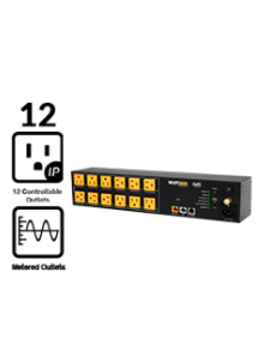 Wattbox 800 Series IP Power Conditioner | 12 Individually Controlled & Metered Outlets, WB-800-IPVM-12