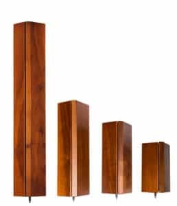 Solid Tech Hybrid Wood Corner Pillars with Built-in Isolation ( 2 pack )