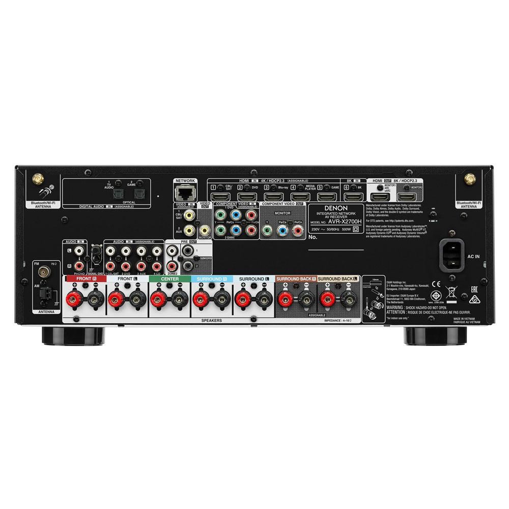 Denon AVR-X2700H 7.2 Channel 8K AV Receiver