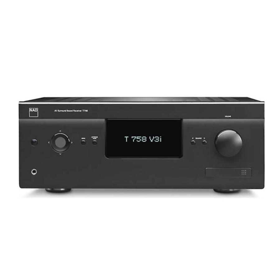 NAD T 758 V3i 7.1-Channel Home Theater Receiver