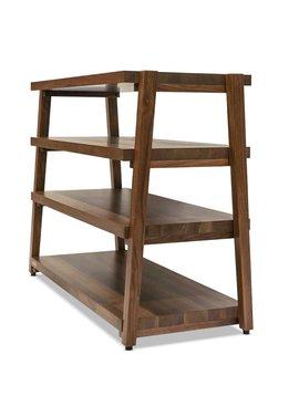 Butcher Block Acoustics rigidrack® 4 Shelf Walnut Shelves - Walnut Legs