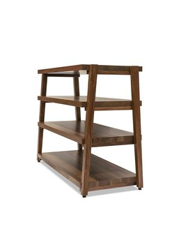 Butcher Block Acoustics rigidrack® 4 Shelf Walnut Shelves - Walnut Legs