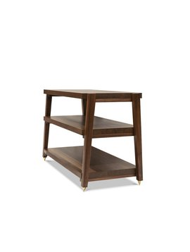 Butcher Block Acoustics 3 Shelf Walnut Shelves - Walnut Legs