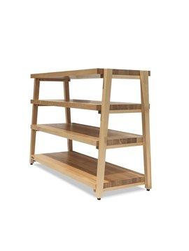 Butcher Block Acoustics rigidrack® 4 Shelf Maple Shelves  -  Maple Legs