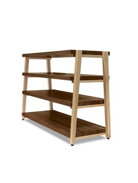 Butcher Block Acoustics 4 Shelf Walnut Shelves - Maple Legs