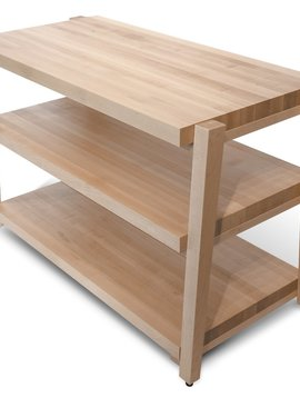 Butcher Block Acoustics 3 Shelf Maple Shelves - Maple Legs