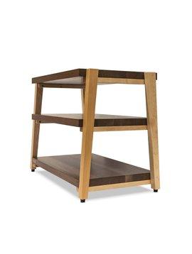 Butcher Block Acoustics rigidrack® 3 Shelf Maple Shelves - Walnut Legs