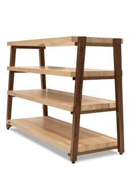 Butcher Block Acoustics 4 Shelf Maple Shelves - Walnut Legs