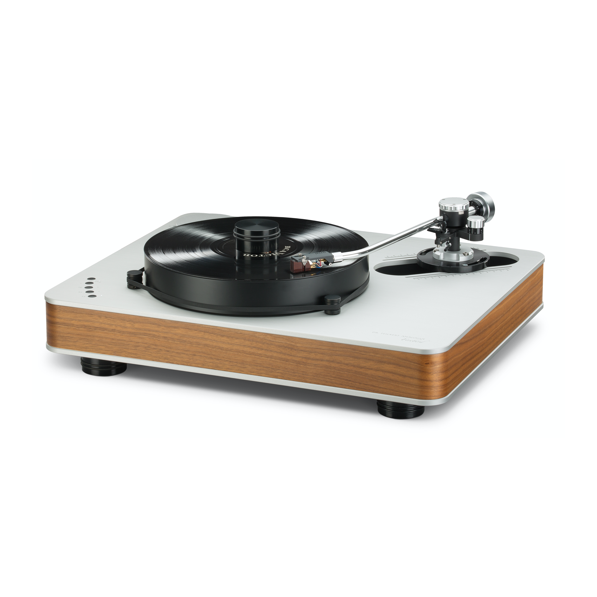 """Dr. Feickert Firebird Standard Noise Cancelling Triple Equilateral Triangle Motors 22.05"""" x 18.11"""" x 6.3"""" Turntable"""