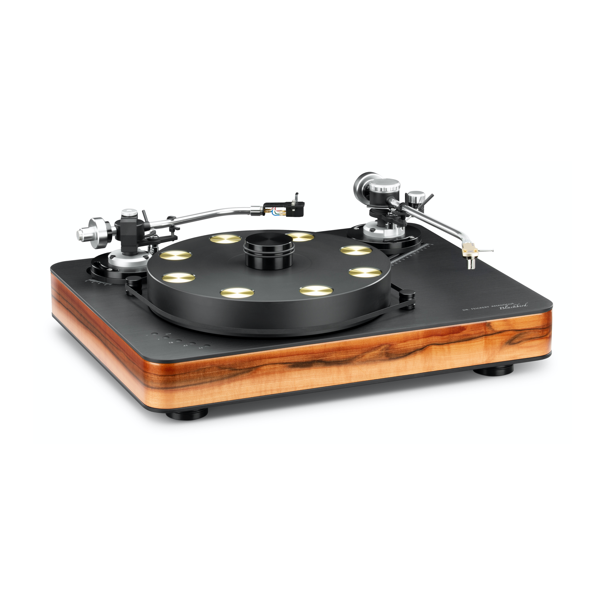 "Dr. Feickert Blackbird Deluxe TS-MXX Noise Cancelling Dual 180 Motors w/ 2 Arm Mounts 20.87"" x 16.54"" x 5.91"" Turntable"