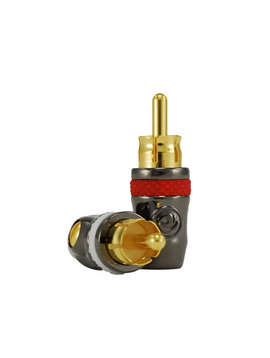 Gold Plated HD Series RCA Connectors - Male 50 pack