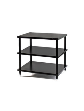 "SolidSteel 3 Shelf Audio Rack 23"" Black"