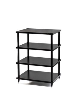 "SolidSteel 4 Shelf Audio Rack 31.6"" Black"
