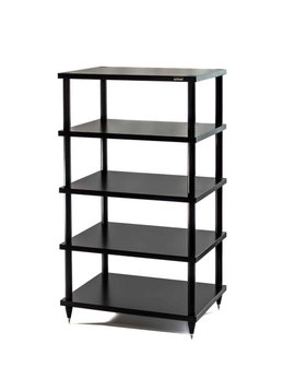 "SolidSteel 5 Shelf Audio Rack 40.86"" Black"