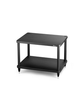 "SolidSteel 2 Shelf Audio Rack 18.3"" Black"