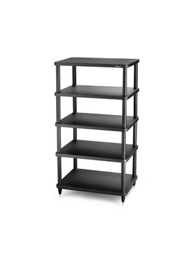 "SolidSteel 5 Shelf Audio Rack 40.7"" Black"