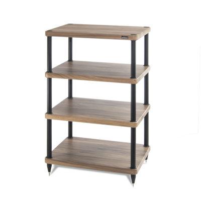 Solidsteel S3 Walnut 4 Shelf Audio, Audio Furniture Racks And Cabinets