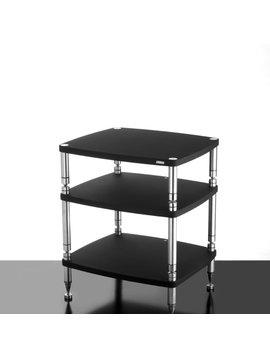 "SolidSteel HF-3 - Three Shelf Audio Rack Gloss Black 30.5"""