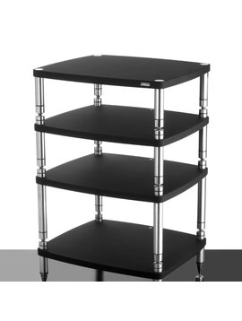 "SolidSteel HF-4 - Four Shelf Audio Rack Gloss Black 39.8"""