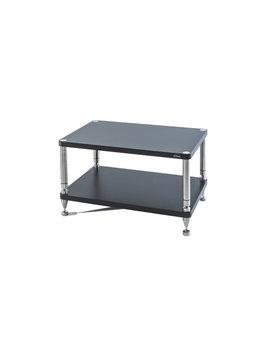 """SolidSteel HY-2L Two Shelf Wide Rack 17.5"""" Flat Black"""